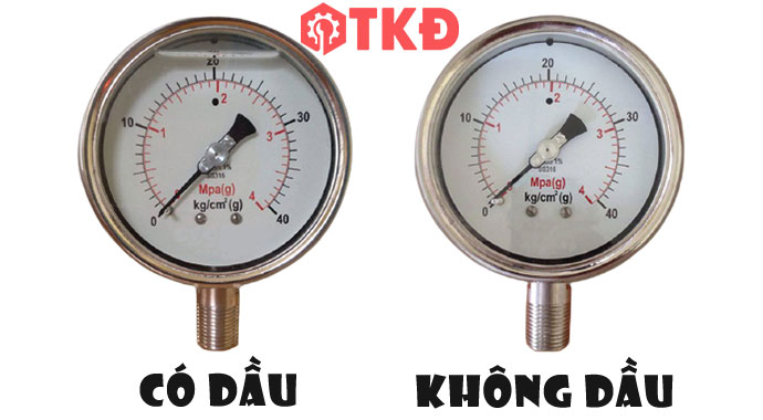 đồng hồ đo áp suất có dầu và không dầu
