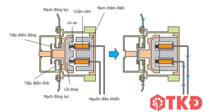 cấu tạo contactor