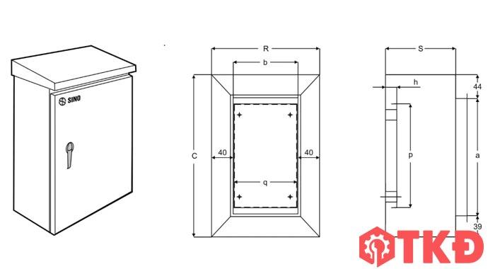 kích thước tủ điện công nghiệp